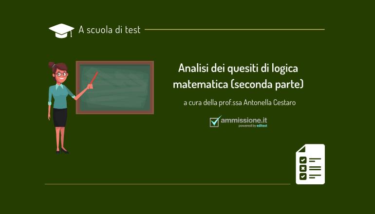 test ammissione logica matematica