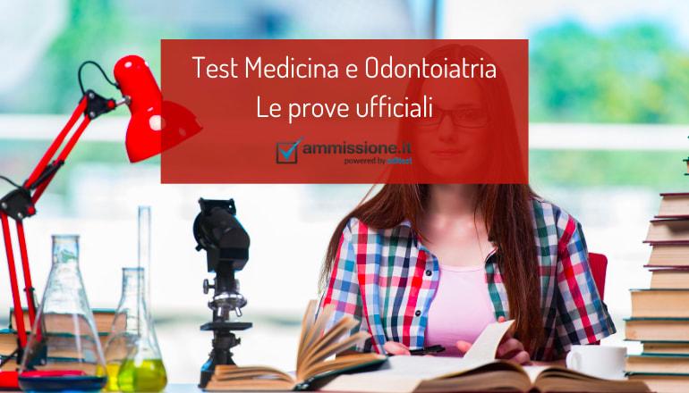test ufficiali medicina e odontoiatria