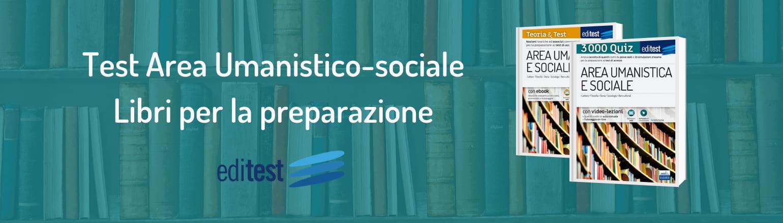 libri test area umanistica e sociale