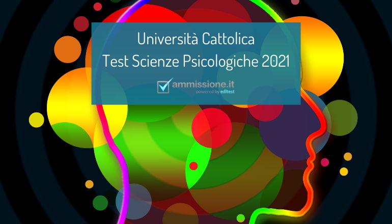 test psicologia cattolica 2021-2022