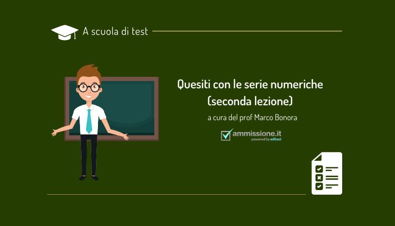 serie numeriche logica test medicina