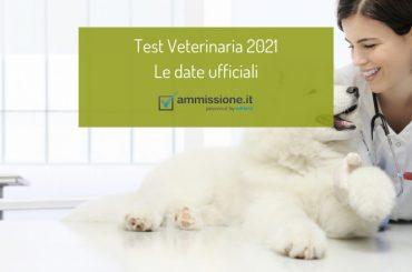 Test Veterinaria 2021: le date ufficiali