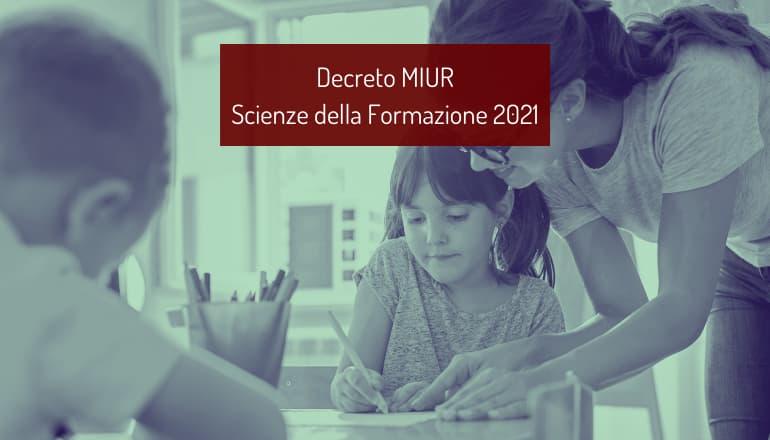 decreto test scienze della formazione primaria 2021