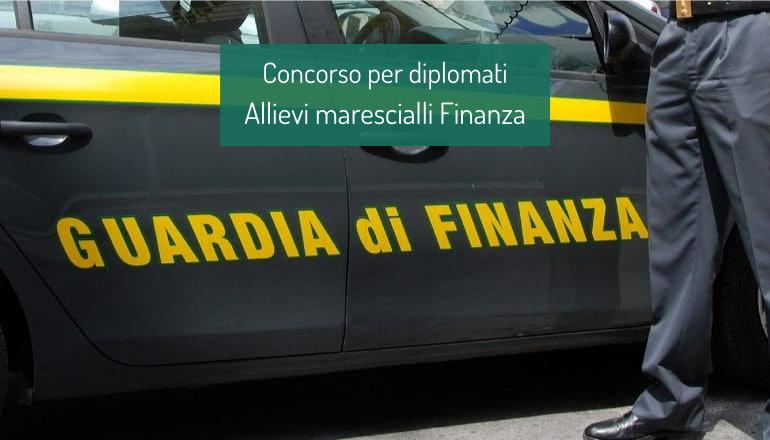 concorso allievi marescialli finanza diplomati 2021