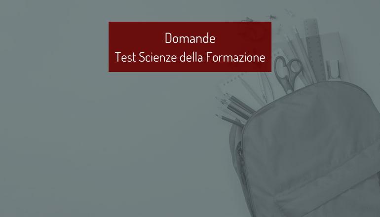 domande test scienze della formazione primaria