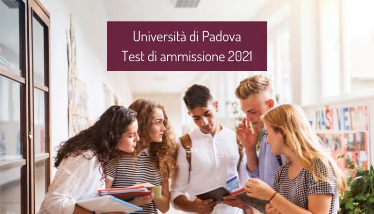 test ammissione università padova 2021