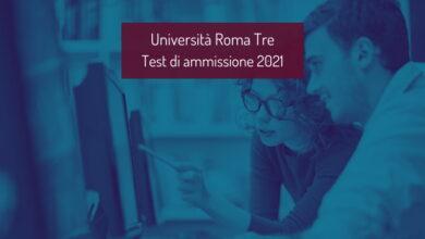 Università Roma Tre: ammissione ai corsi di laurea 2021/2022