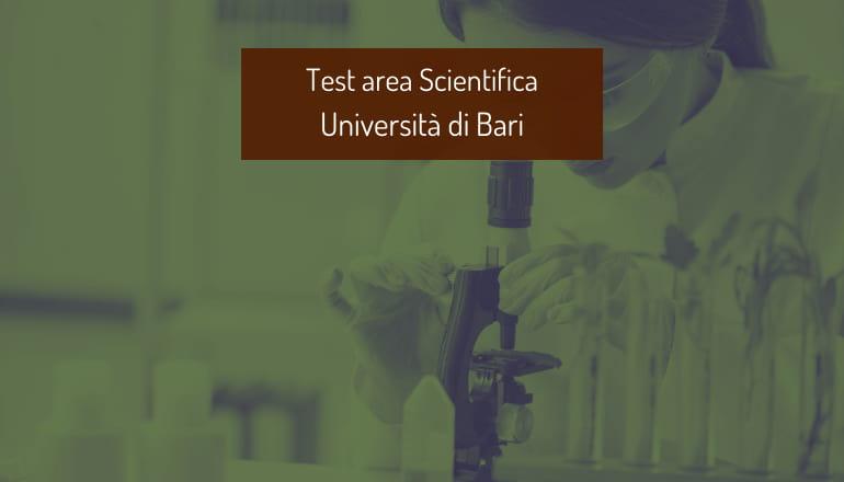 test area scientifica università bari 2021